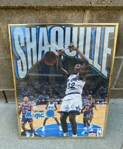 Shaquille O'Neal Orlando Magic Vintage 1993 Starline Framed NBA Licensed Poster