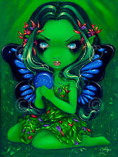 FAIRY ART PRINT - Verdant Green by Jasmine Becket-Griffith 14x11 Gothic Poster