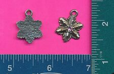 lead free pewter flower pendant with a pink stone 4068-2