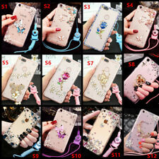Bling Crystal Diamond Soft Phone Case For Nokia 3.1 5.1 6.1 7.1 3.2 4.2 &lanyard