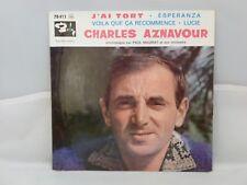 Charles Aznavour – J'Ai Tort                          Barclay – 70 411