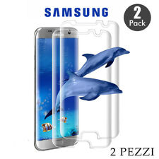 Pellicola Vetro Temperato per Samsung S3-S4-S5-S6-S7-S8-S9 EDGE / PLUS [2 PEZZI]