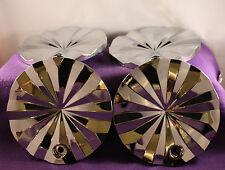 "FERRETTI POLO Chrome Wheel Center Caps FOUR (4) NEW!  pn: T820-17"".18"""
