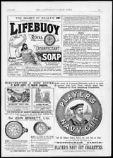 1894 Antique Print  Advertising - Players Navy Cut Cigarettes Lifebuoy Soap (58)