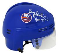 Bryan Trottier Signed New York Islanders Hockey Mini Helmet w/HOF - SCHWARTZ COA