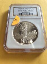 Commemorative Yellowstone Silver Dollar - 1999 PF69          (8-184)