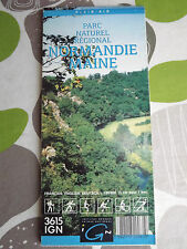 "carte IGN serie ""speciales de l'IGN"" parc naturel normandie maine 1992"