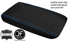 BLUE STITCHING LEATHER ARMREST LID COVER FITS SKYLINE R32 GTS GTR 1989-1993