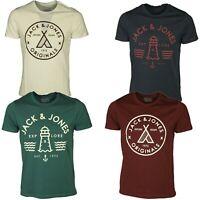 Jack & Jones Mens Short Sleeve T Shirts Casual Summer Slim Fit Tees Tops