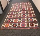 10 Ft long Kilim Rug; Traditional Tribal Designs and Colors