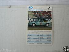 53-RACING CARS 7D OPEL KADETT GSI 16V  KWARTET KAART,CARD