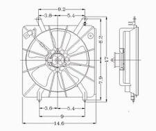 Engine Cooling Fan Assembly Left TYC 600060 fits 98-02 Honda Accord 2.3L-L4