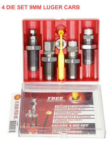 LEE Deluxe Carbide 4 Die Set 9mm 90963 PRIORITY MAIL SHIPPING