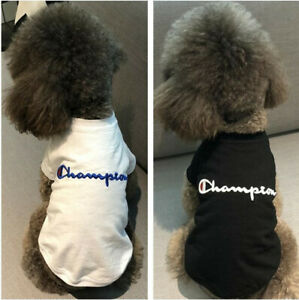Fashion Blue C Logo Black White Pet Dog Cat Clothes Summer Shirt short T-shirt