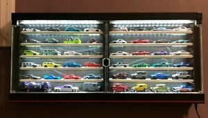 Custom LED Hot Wheels Premium Car Collector Display Case