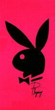 Serviette Drap de plage Playboy Fuchsia strandtuch beach towel coton