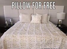 Moroccan wedding blanket Handira + 1 pillow free, sequined blanket, bed cover
