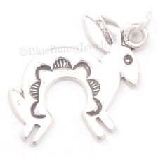 South western RABBIT Native American Indian Charm Pendant 925 STERLING SILVER