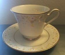 "NORITAKE china FRAGRANCE 7025 pattern Tea Cup & Saucer  @ 3-1/8"" Yellow Daisies"