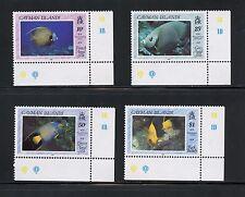 Cayman Islands 1990  #618-21  fish marine    4v.  MNH  I322