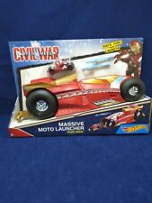 Hotwheels Marvel Captain America Civil War Massive Moto Launcher Car