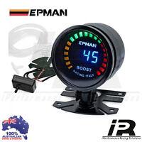 "52mm BOOST Gauge 2"" Epman Racing Smoked Digital Color Analog PSI & BAR 45PSI"