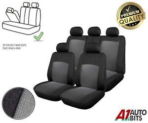 For Nissan Juke Primera Qashqai Full Grey Car Seat Cover Set Split Rear Seat