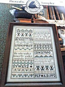 Proverbs Sampler Cross Stitch Pattern - Heartwarming Samplers 1992