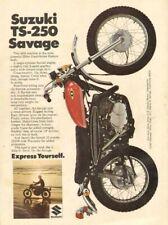 1969 Suzuki TS-250 Savage Enduro Vintage Motorcycle Ad