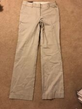 NWT J Crew Stone/Beige Work Stretch Trousers Dress Pants Sz 4R