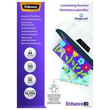 PACK 100 HOJAS FUNDAS PARA PLASTIFICAR PLASTIFICADORA A4 DIN 216x303mm 80 micras