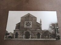 Early Real photographic postcard - Garrison church - Greenwich - London