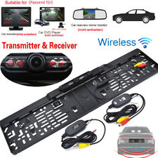 Funk 170° IR LED Rückfahrkamera kennzeichen kabellos Nummernschild Einparkhilfe~