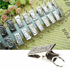 20pcs Stainless Steel Window Shower Curtain Rod Clips Clips Tool Rings Drap B2L3