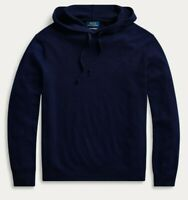 Polo Ralph Lauren Mens Hunter Navy Washable Cashmere Hooded Hoodie Sweater NWT