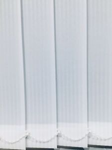 89mm (3.5) Vertical Blind Replacement Louvre/Slats -  Rome White