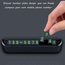 Luminous Hidden Car Vehicle Temporary Parking Card Phone Number Plate Auto