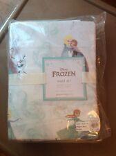 $85 Pottery Barn Disney ORGANIC FROZEN TWIN SHEET SET Girl princess fairy Elsa