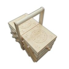 More details for  wooden sewing box 29 cm in white color