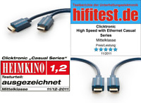Clicktronic Casual Standard HDMI cable with Ethernet (Full HD, 3D-TV, ARC) 15 m