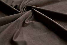 """STRETCHY COTTON CORDUROY FABRIC - BROWN COLOUR 60"""" - NEEDLE CORD 20 WALE"""