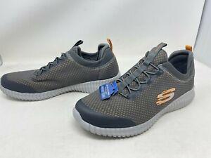 Mens Skechers 52529 ELITE FLEX BELBURN Charcoal/Orange Sneakers (73Y)