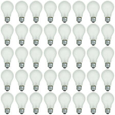 48 Pk 60 Watt Long Life Light Bulb Rough Service Warm White, Vibration Resistant