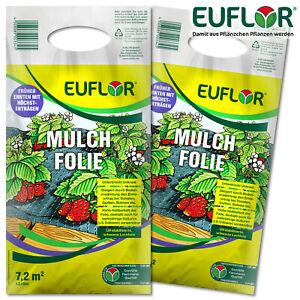 Euflor 2x 7,2 m² Mulchfolie (1,2 x 6 m) Gartenbau Wachstum Beet Gewächshaus