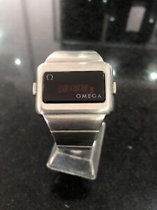 Omega  Computer LED LCD Digital Watch - Rare Two Button 196 0044