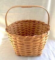 Vintage Hand Woven Oak Splint Basket, Signed - Randy Gibson