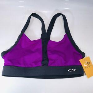 NWT C9 Champion Sports Bra Purple Gray Light Support Org. $13  (k11)