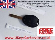 MINI MG ZT Rover 75 2 BUTTON REMOTE KEY FOB CIRCUIT BOARD PCF7935 ID44 BARCODE