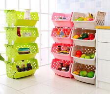 Kitchen Multi Tier Fruit Vegetable Rack Home Storage Stacking Stackable Basket