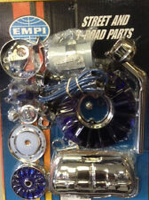 EMPI 8654 SUPER CHROME AND BLUE DELUXE ENGINE KIT VW BUG BUGGY RAIL TRIKE HOTROD